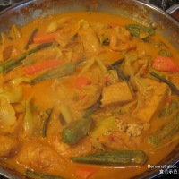 Singapore Curry Vegetables (咖哩菜)