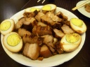 Chinese braised pork belly with eggs