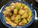 Singapore stewed chicken with potatoes